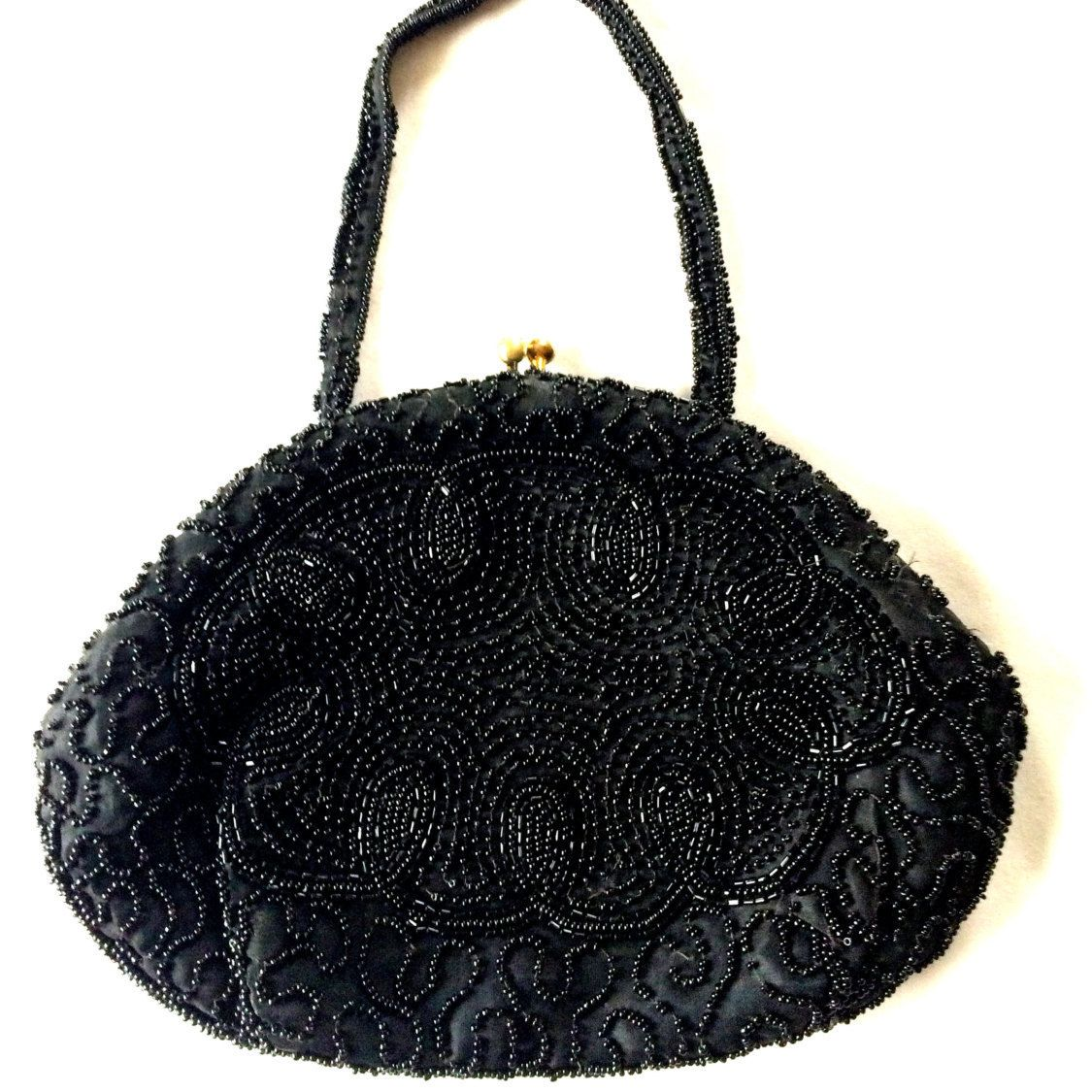 Vintage Durmar-Belgium Hand-Beaded Evening Clutch by JanetsVintageFinds on Etsy