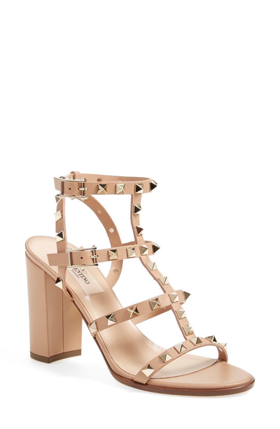 352a8cd3a0b Valentino  Rockstud  T-Strap Sandal (Women)
