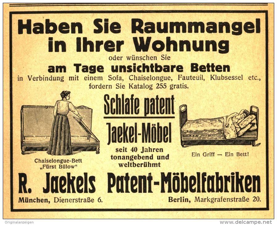 original werbung anzeige 1921 jaekel 39 s patent m bel. Black Bedroom Furniture Sets. Home Design Ideas