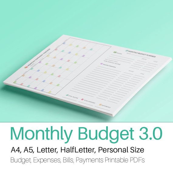 Expense Tracker Monthly Budget Planner A Monthly Expenses Tracker