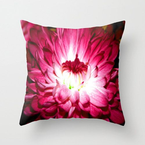 Pillow Cover Red Flower by PhotographybyLadybug, starting at $28.00