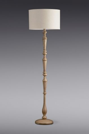 Richmond Turned Wood Floor Lamp From The Next Uk Online