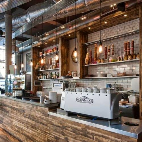 Open Kitchen Restaurant Rustic: Cafe Www.eatpraydesignblog.com
