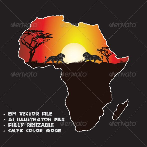 Realistic Graphic DOWNLOAD (.ai, .psd) :: http://jquery.re/pinterest-itmid-1006351796i.html ... Sunset in Africa ...  Indian Ocean, Madagascar, africa, african, atlantic ocean, continent, desert, lions, red sea, savannah, sun, sunset, sunset in africa, wild animals  ... Realistic Photo Graphic Print Obejct Business Web Elements Illustration Design Templates ... DOWNLOAD :: http://jquery.re/pinterest-itmid-1006351796i.html