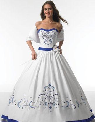 white and royal blue wedding dresses | Wedding Ideas - Blue ...