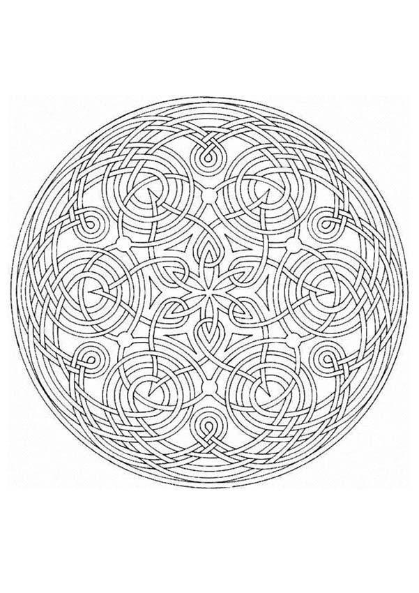 Mandala Entrelace A Imprimer Dans 11 Coloriages De Mandalas Pour Adultes Se Detendre