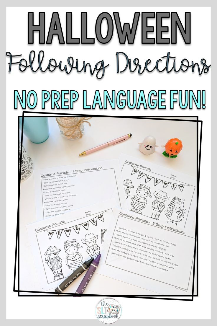 Following Directions Coloring Pack Halloween Themed 1 2 3 Step