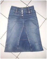 comment fabriquer une jupe avec un vieux jean projets essayer couture sewing jean skirt. Black Bedroom Furniture Sets. Home Design Ideas