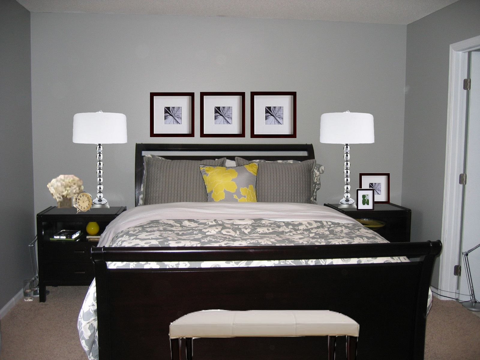 Couple bedroom wall decoration ideas - Lovely Master Bedroom Gray Color Ideas On Bedroom Decorating Ideas
