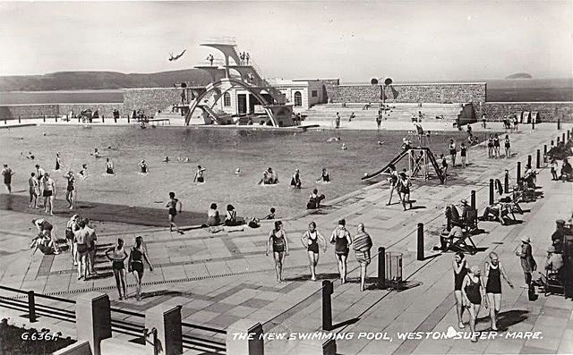 The new 1930s open air swimming pool weston super mare - Opening a swimming pool after winter ...