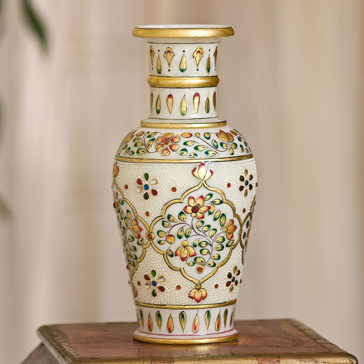 Indian decorations from india indian home decor hand painted indian decorations from india indian home decor hand painted kundan marble vase reviewsmspy