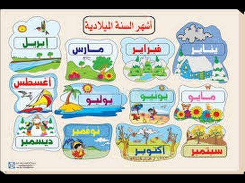 Image Result For شهور السنة Language Levels Arabic Lessons Teaching Techniques