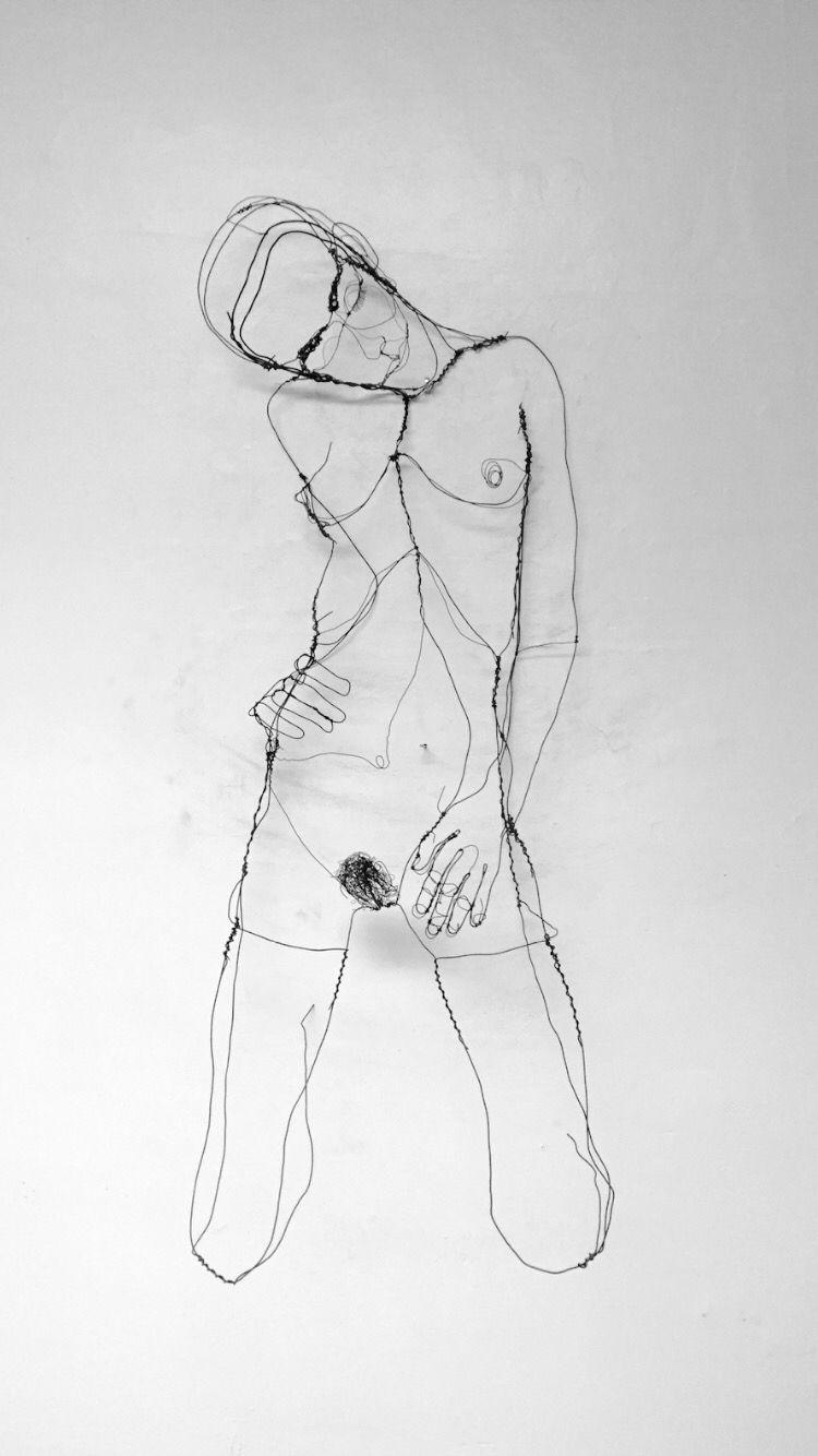 nude in limbo: sculpture in wirefo wink | wes fowinkle | pinterest