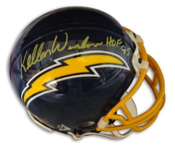huge discount c19ed 01fd1 Autographed Kellen Winslow San Diego Chargers Throwback ...