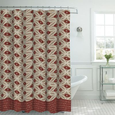 Bath Studio Oxford Fabric Weave Textured Shower Curtain Set