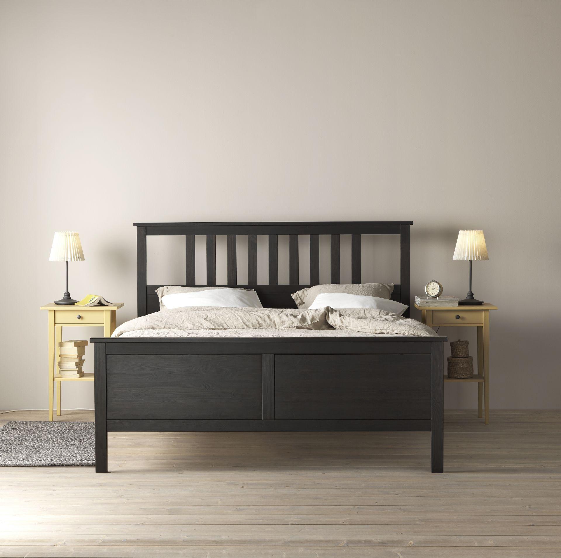 Hemnes Bedframe, Zwartbruin, Leirsund Hemnesikeabedroom Ideasikea Ikea