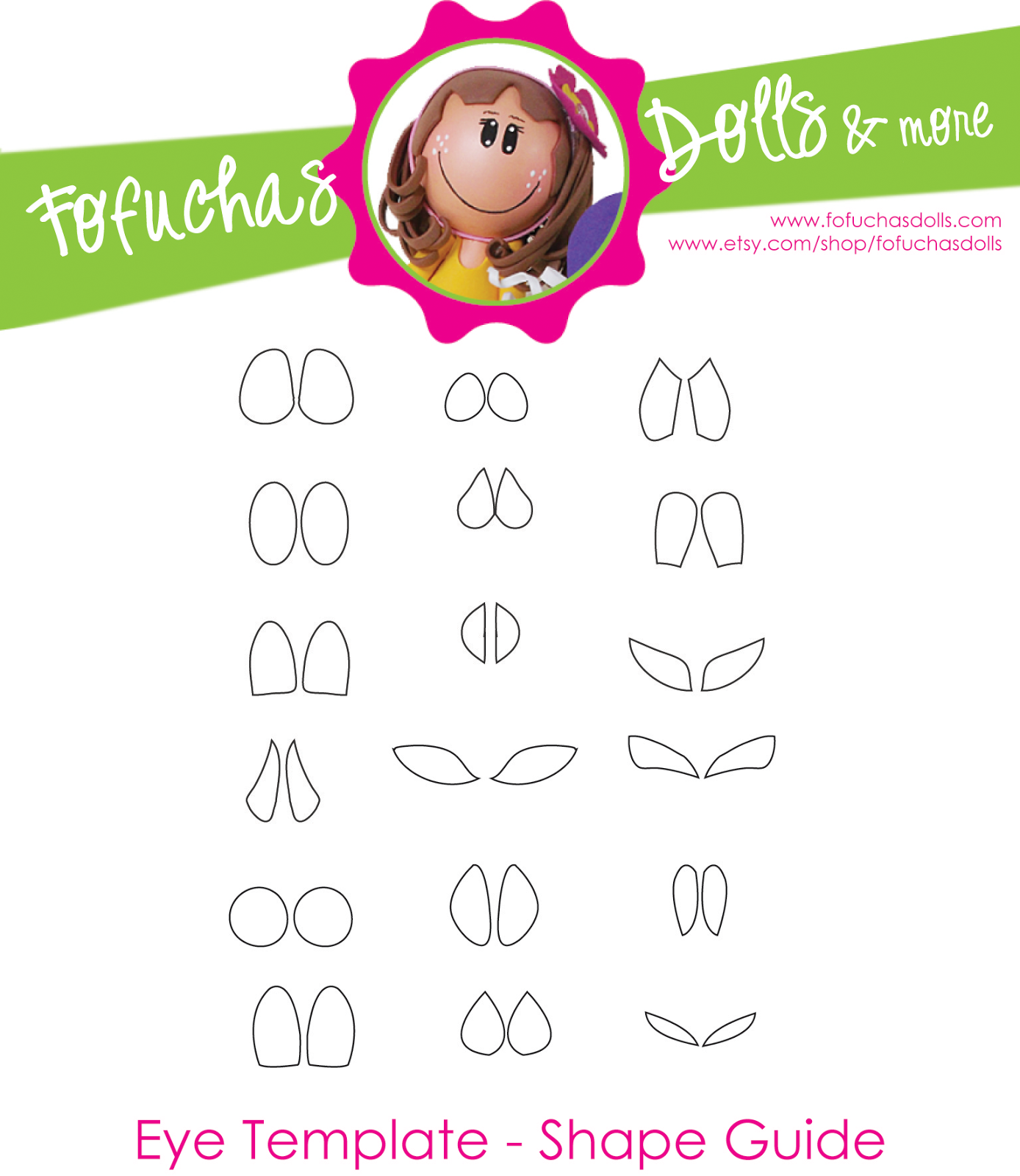 The Eye Template Shape Guide - 6 Pack