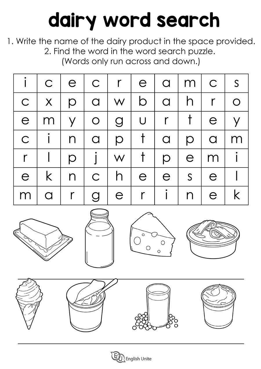 Dairy Word Search Puzzle English Unite Word Search Puzzle Review Activities Vocabulary Activities [ 1273 x 900 Pixel ]