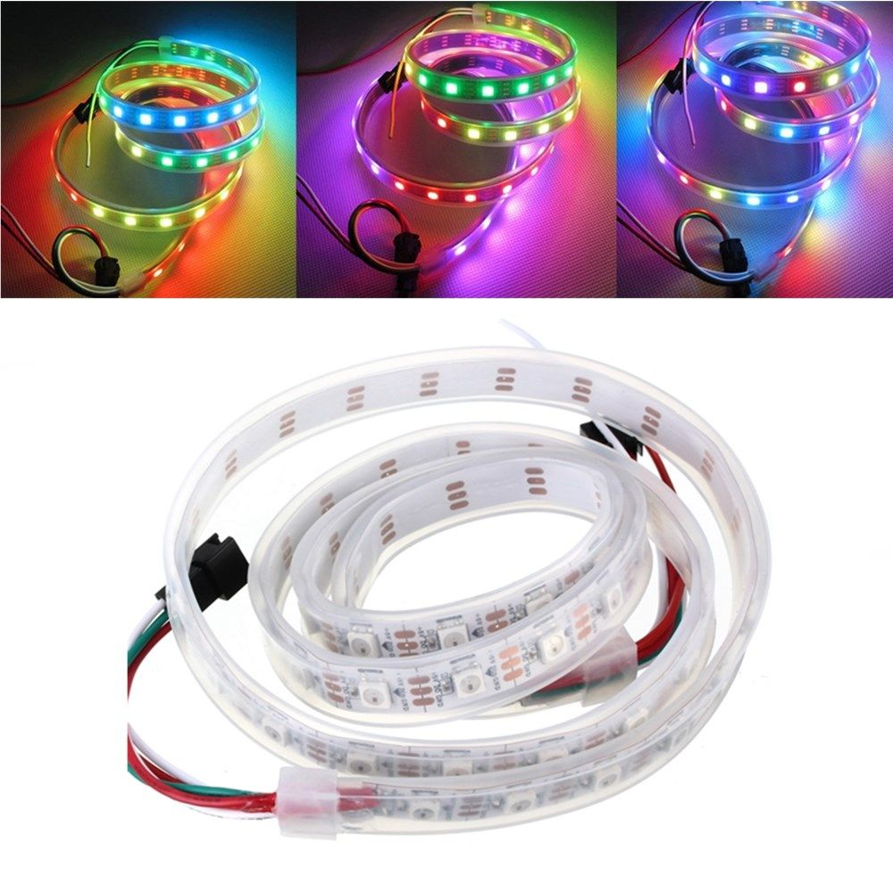 1M DC5V WS2812 WS2812B 60 SMD 5050 RGB Colorful Waterproof IP67 LED ...