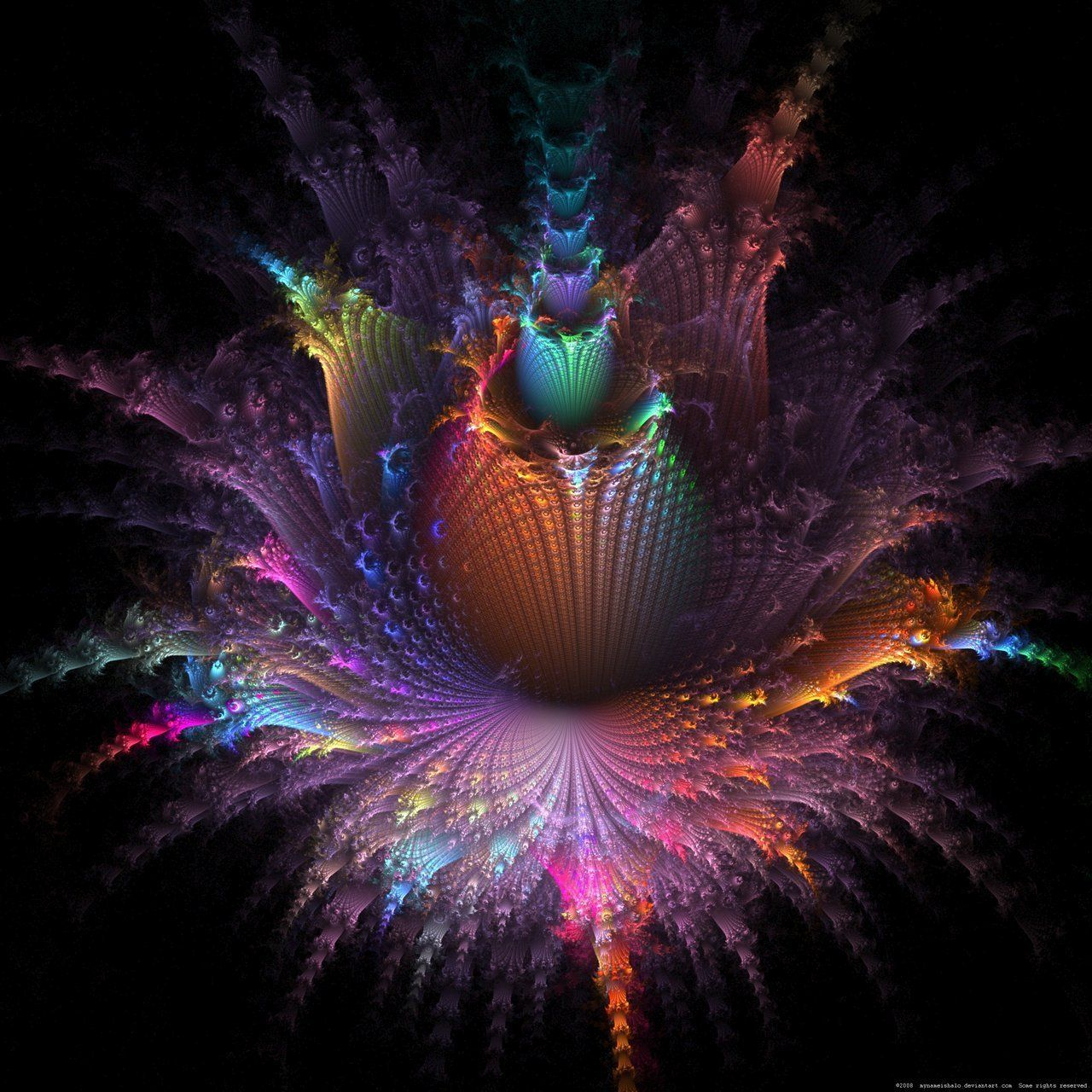 Moving Fractal Art Trippy Zone- Wallpapers