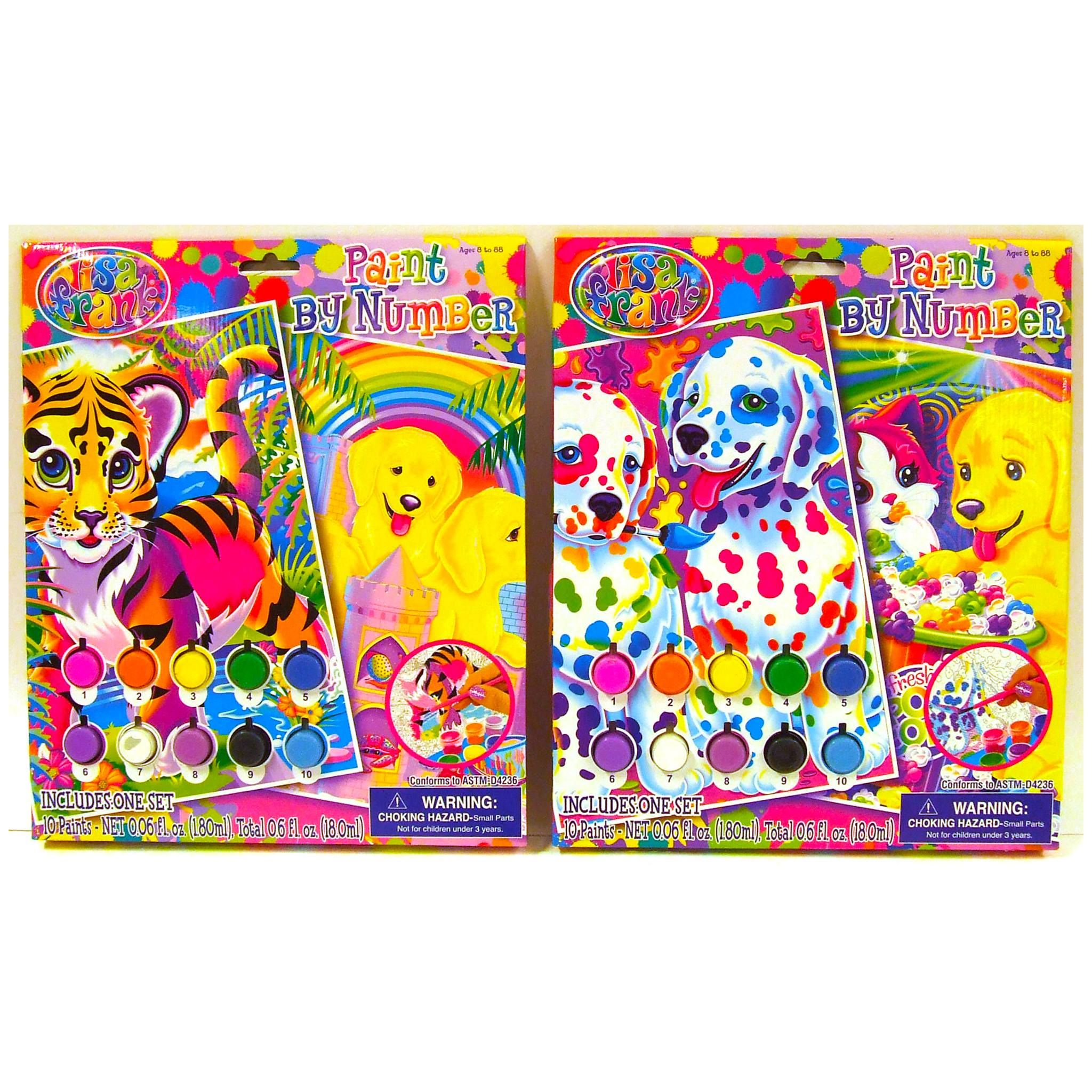 Check Out The Lisa Frank Paint By Number Available At Dollar General Lisa Frank Stickers Lisa Frank Lisa Frank Clothing