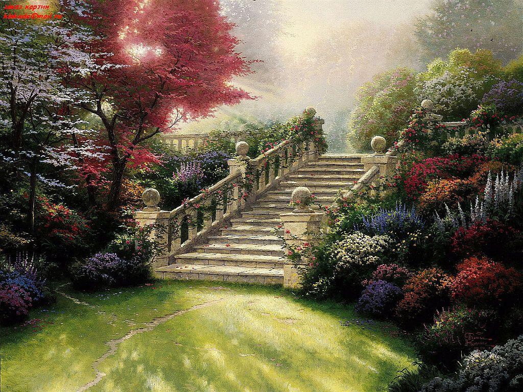 Stairway to Paradise - Thomas Kinkade