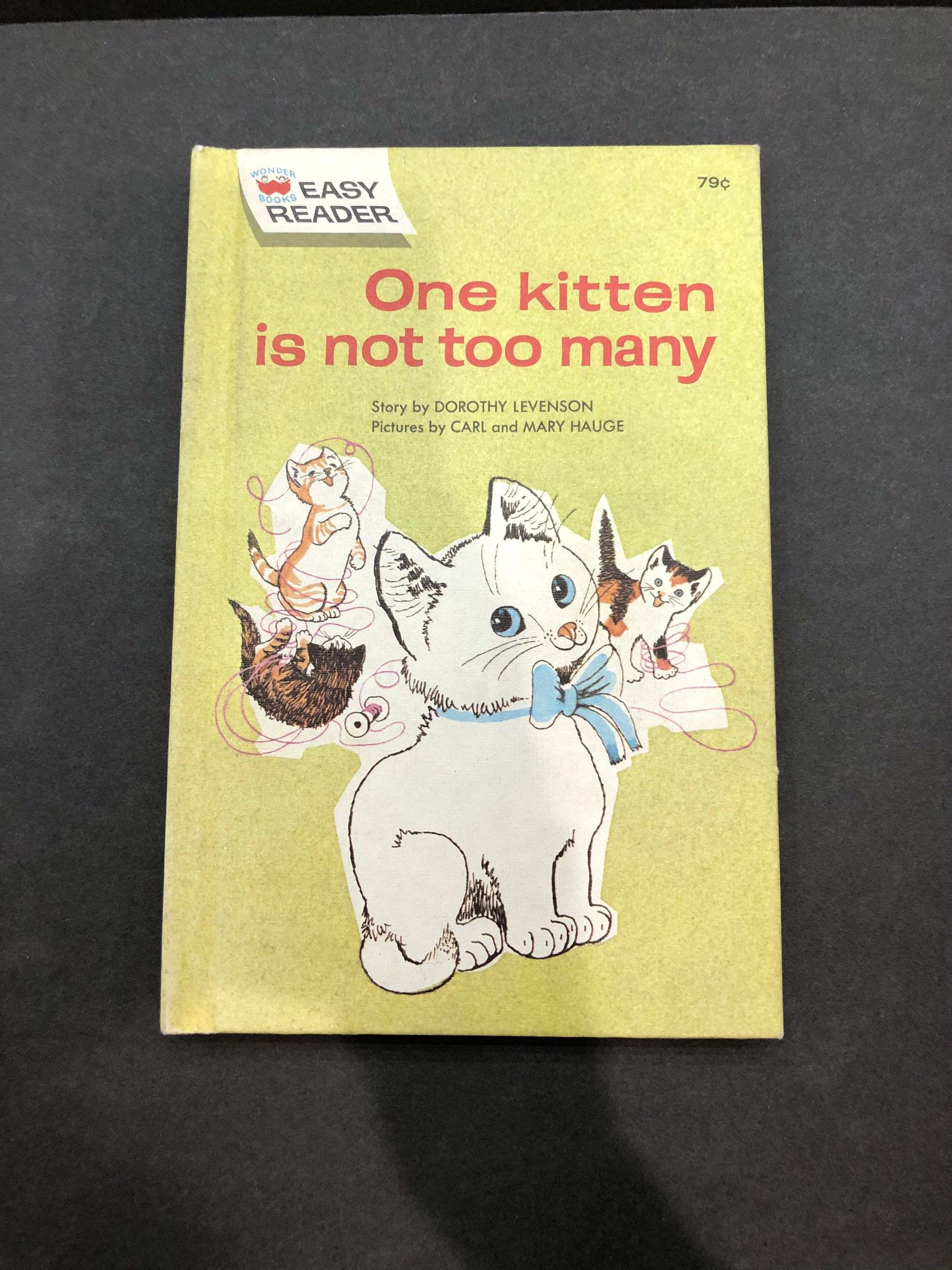 1964 one kitten is not too many wonder book dorothy