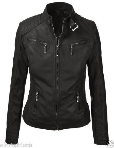 Black Friday Women'S Slim Fit Genuine Lambskin Leather Motorcycle ...