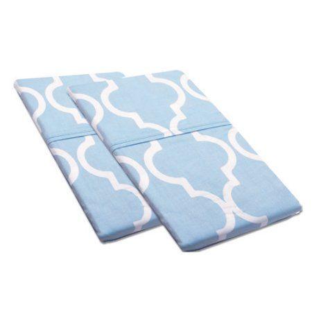 Simple Luxury Pillowcase (Set of 2), Blue