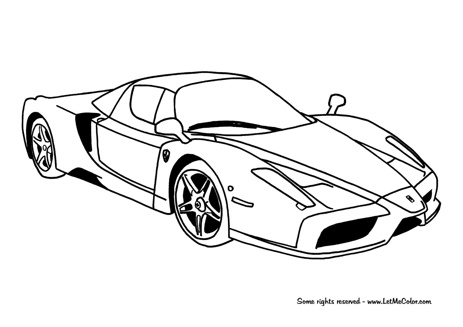 Cars-coloring-page-Ferrari-Enzo-Letmecolor.com | COCHES | Pinterest