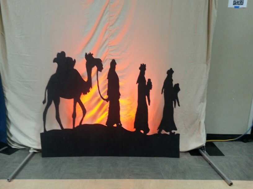 2014 Christmas Stage Design Cardboard Cutout Wise Men Silhouette