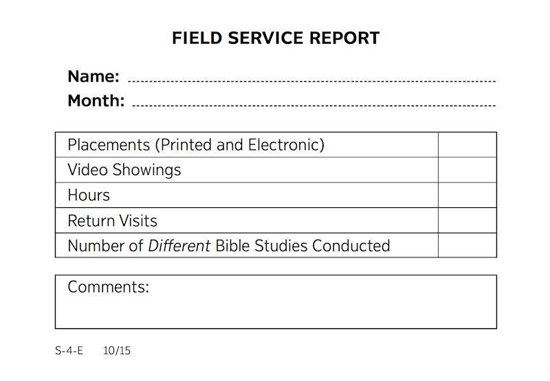 New ministry report format | jw news | Jw ministry, Jw news