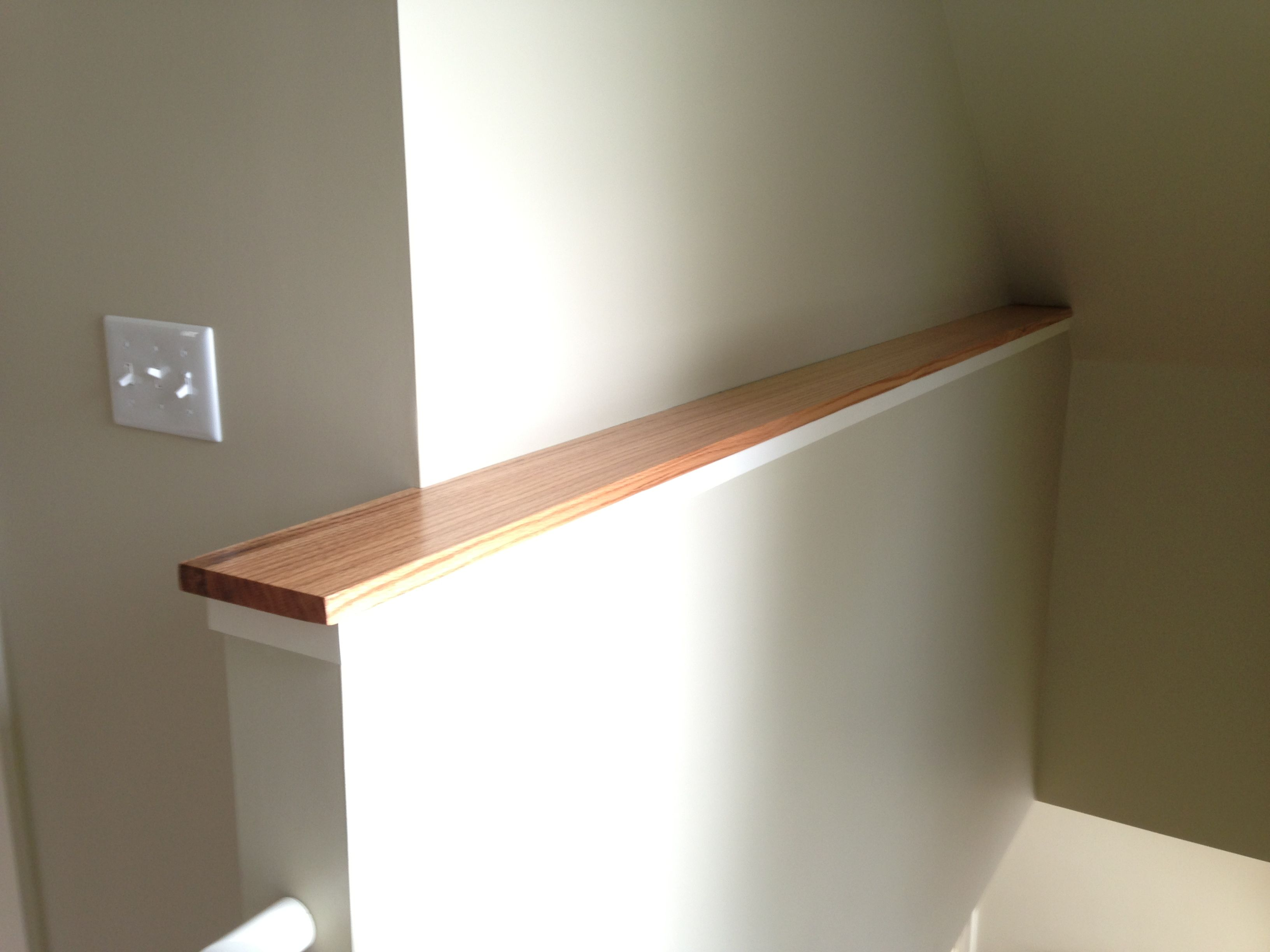 Spice Up What Would Otherwise Be Boring Solid Wood Cap On This Half Wall Half Walls Ledge Decor Stair Walls