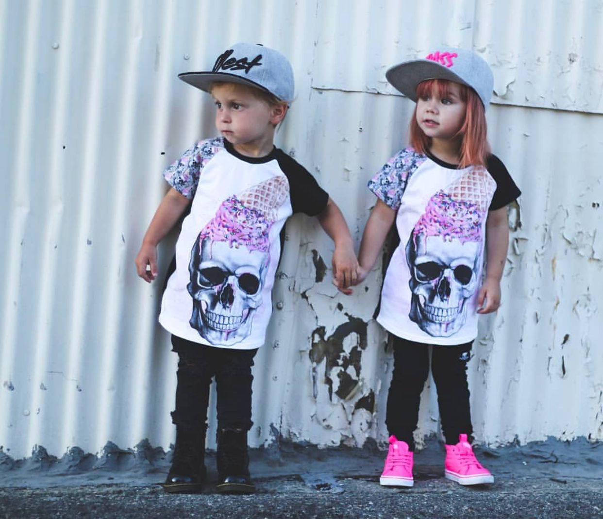 Ice cream skull skull tee girls tee boys tee graphic tee urban