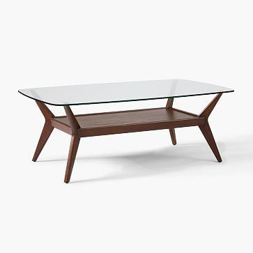 Jensen Coffee Table Glass Coffee Table Coffee Table Rectangle Coffee Table Wood