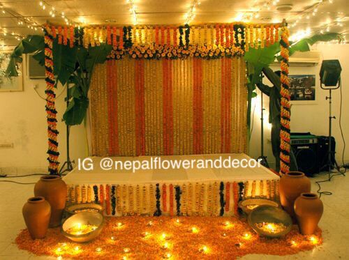 Pin by nepal flower and decor on nepal flower and decor pinterest wedding decoration marriage decoration nepal mehndi night wedding mandap flower decoration pictures mehendi wedding events junglespirit Image collections