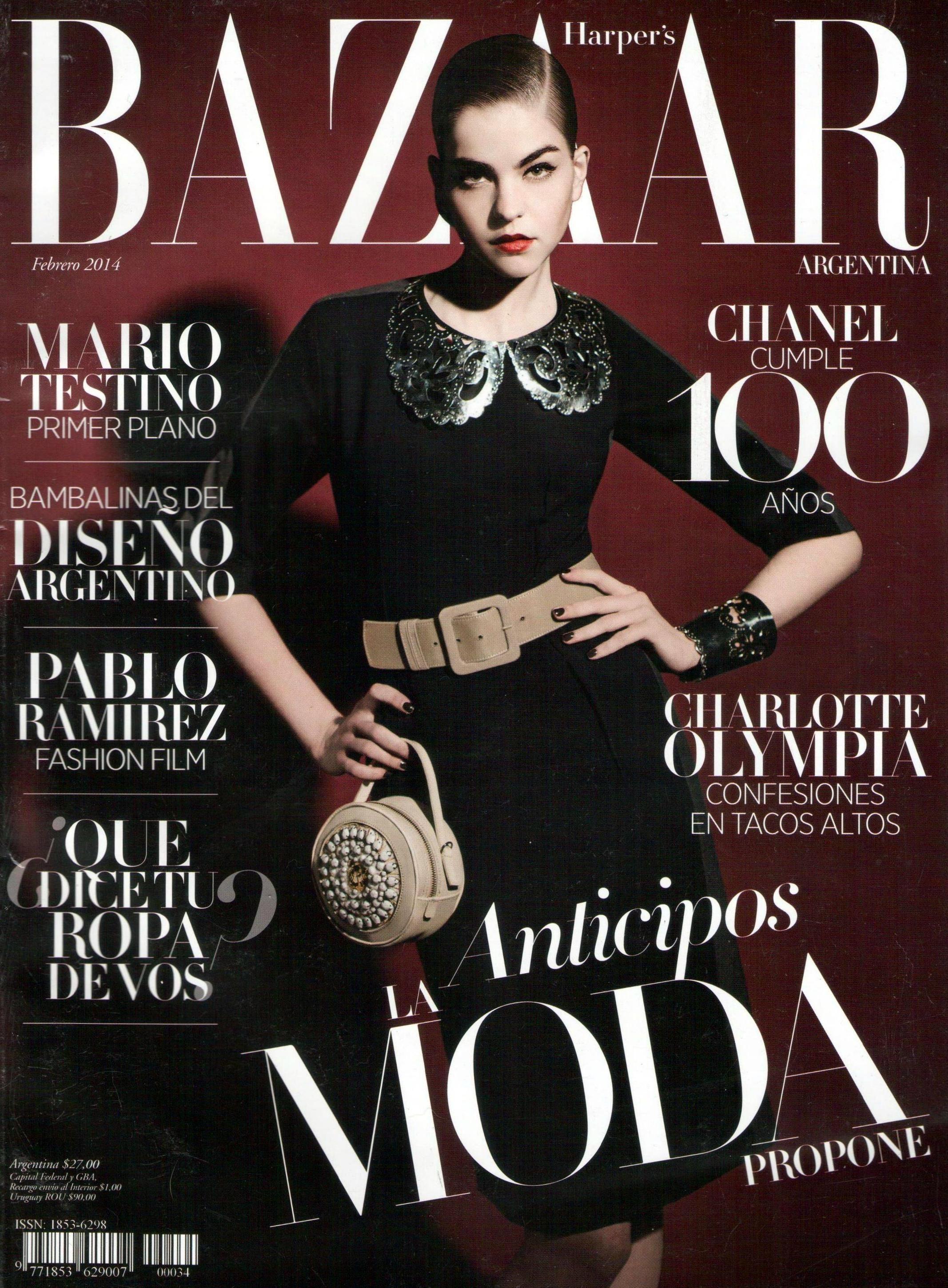 Valerianne le moi harper 39 s bazaar magazine cover for Bazaar argentina