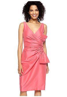 Maggy London Sleeveless Taffeta Dress with Bow - Belk.com