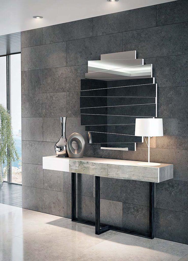 Recibidor con espejo y consola 1623 ar1 muebles - Muebles consolas recibidores ...