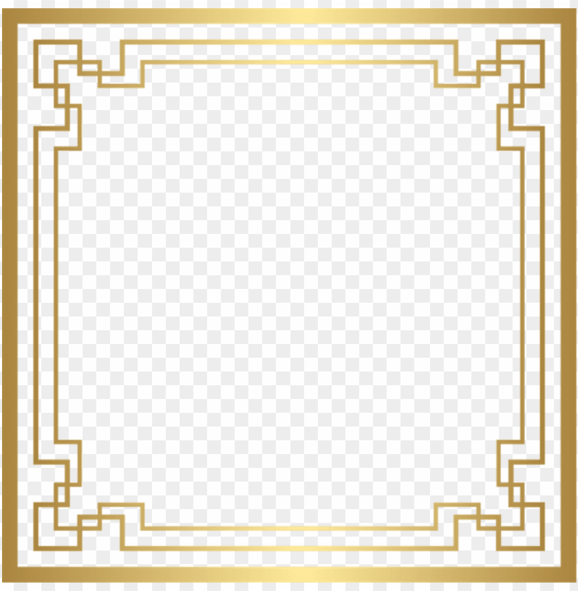 Art Deco Frame Png Image With Transparent Background Png Free Png Images Art Deco Deco Art