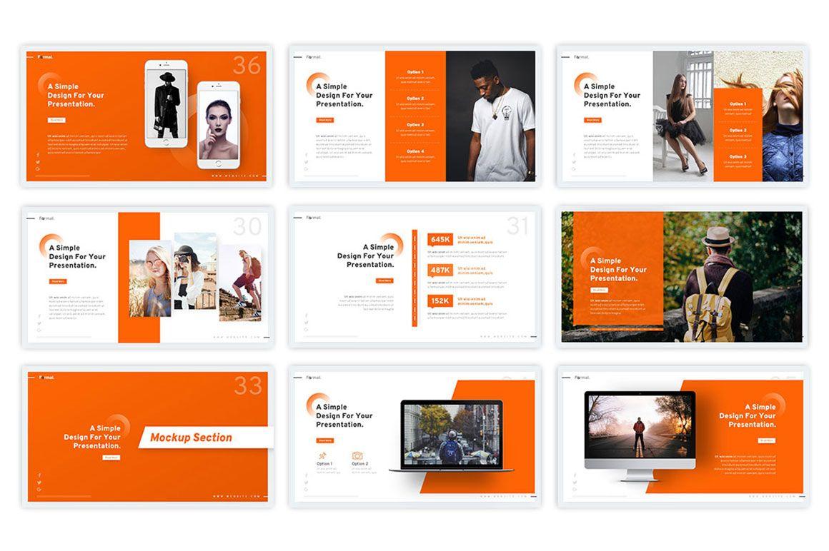 Formal Powerpoint Template 75238 Templatemonster Business Presentation Powerpoint Templates Presentation Design Layout