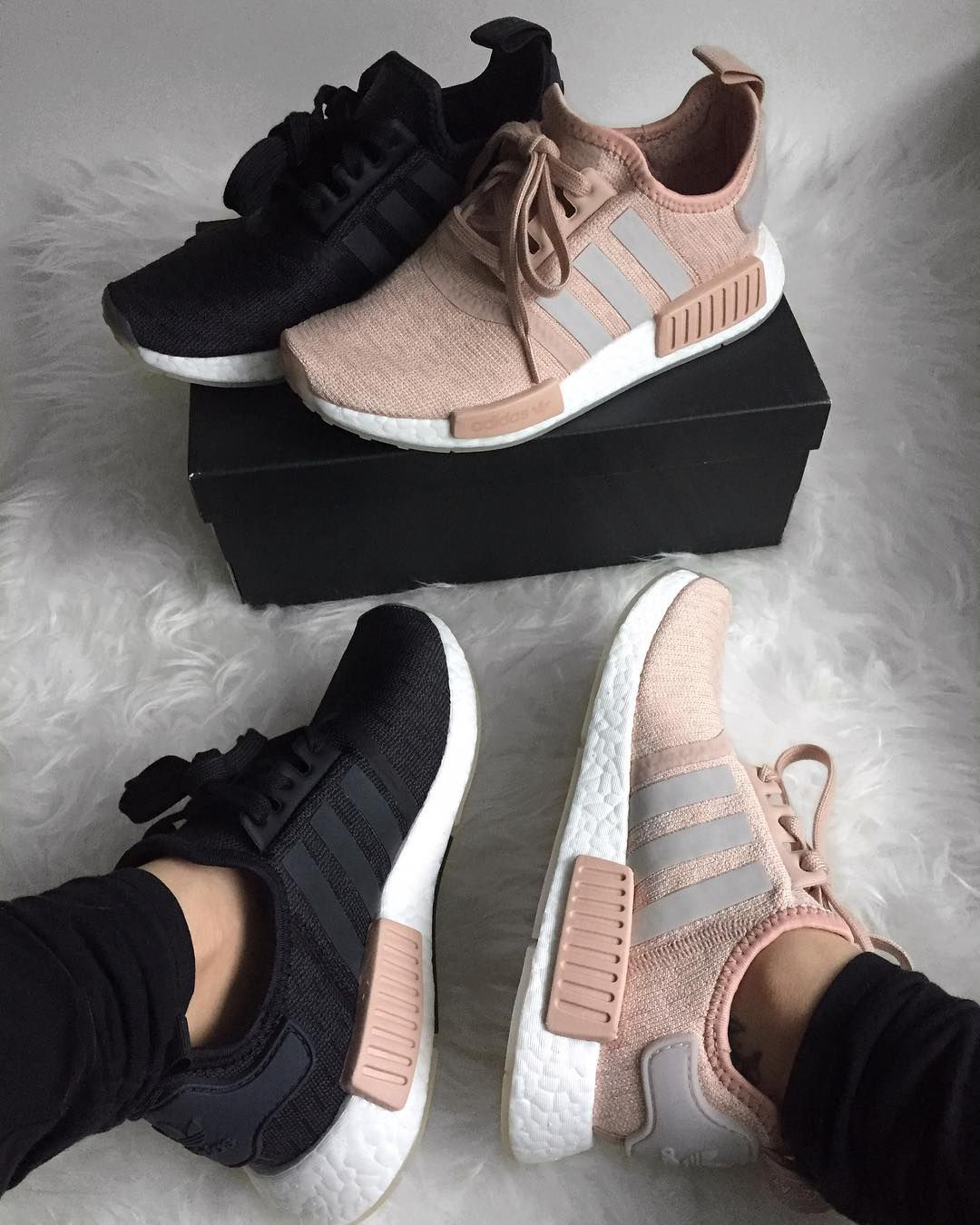 adidas NMD_R1 (Ash Pearl Chalk Pearl | SHOES. | Cute shoes