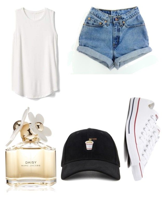 """""""Untitled #68"""" by amirah-lockett ❤ liked on Polyvore featuring Forever 21, Gap, Converse and Marc Jacobs"""