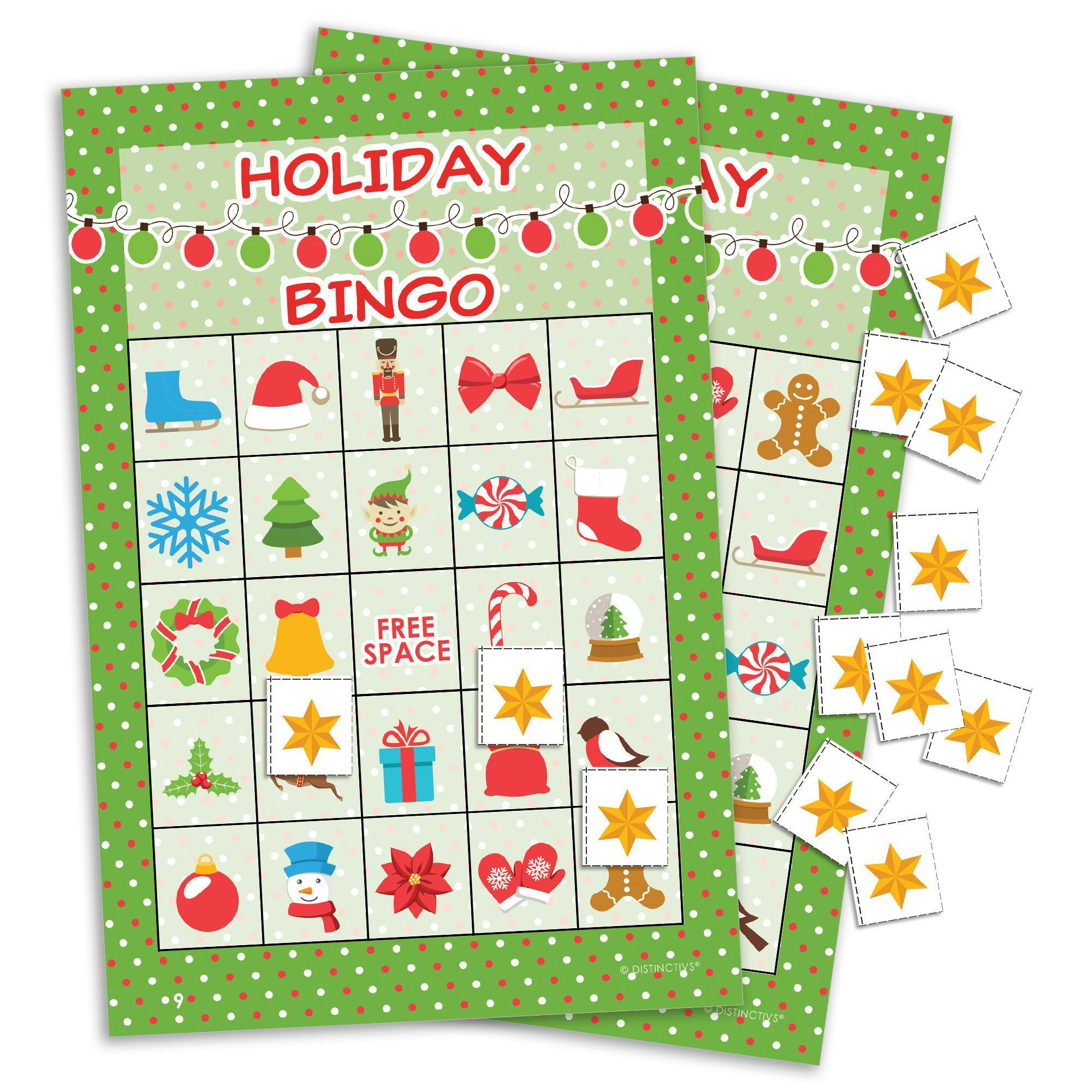 Holiday Christmas Bingo For Kids