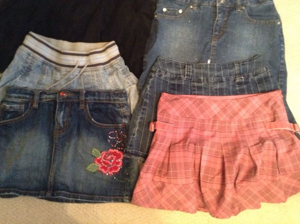 Lot Of 6 Skirts Girls Size 12 - Limited Too/Children's Place Shirts #Justice