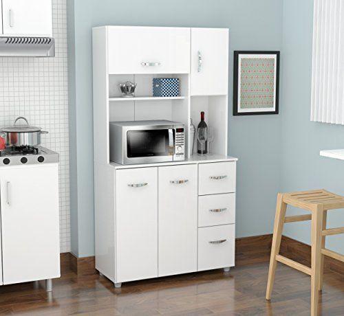 Homeroots Kitchen Storage Cabinet Melamine Engineered Wood In 2020 Kitchen Cabinet Storage