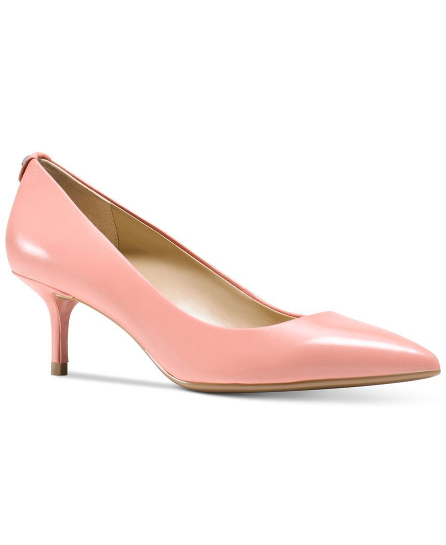 Michael Michael Kors Mk Flex Kitten Heel Pumps All Women S Shoes Shoes Macy S Heels Girls Formal Shoes Womens Leather Cowboy Boots