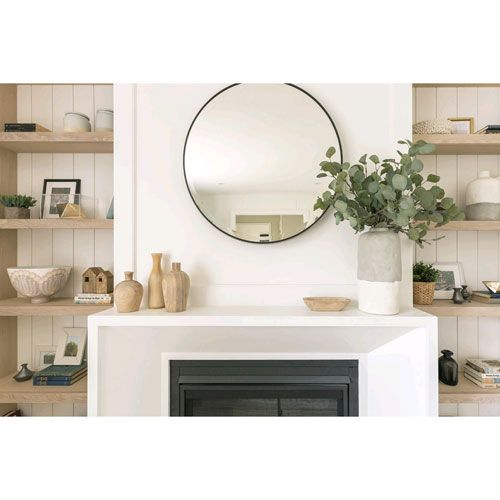 Photo of Feiss MR1127ORB Johnson Mirror in Oil Rubbed Bronze, Transitional | Bellacor