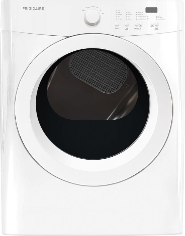 Frigidaire FFQG5000Q 27 Inch Wide 7.0 Cu. Ft. Gas Dryer with One-Touch Wrinkle R Classic White Dryers Dryer Gas