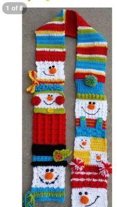 crochet snoman scarf - Bing images